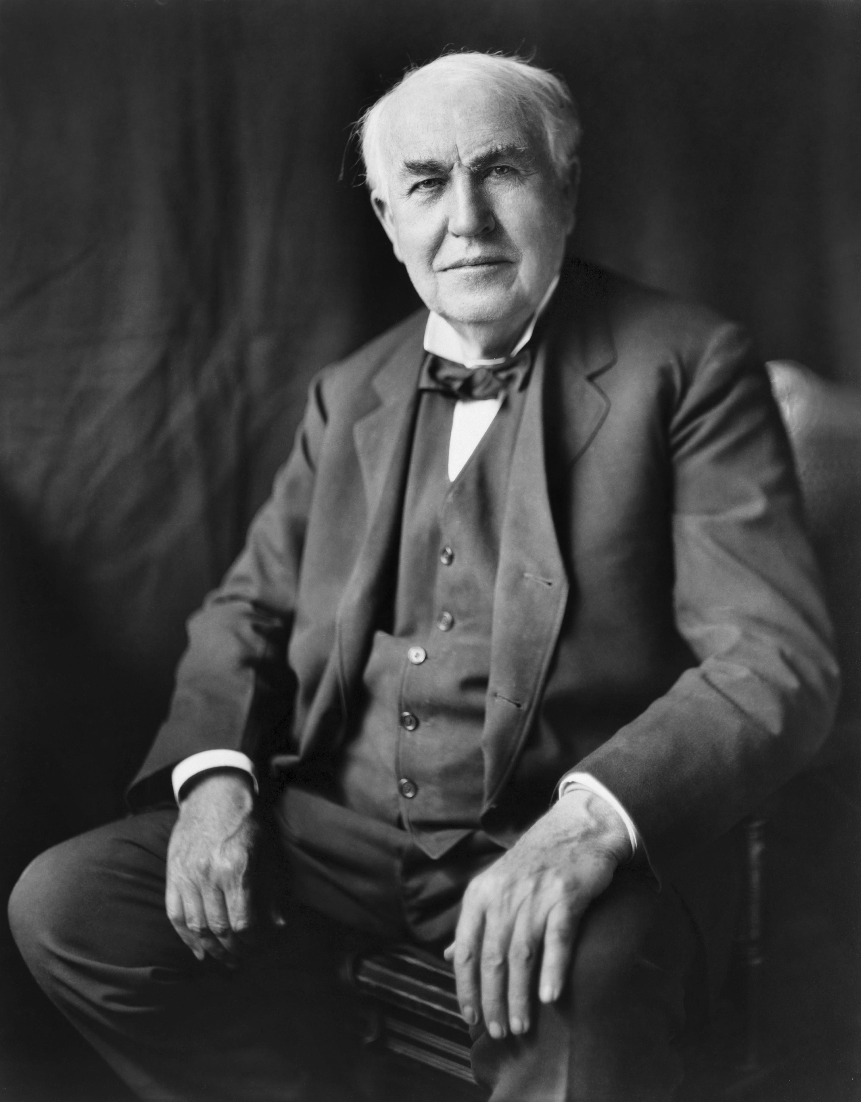 Thomas Edison inventor of electric power generation.