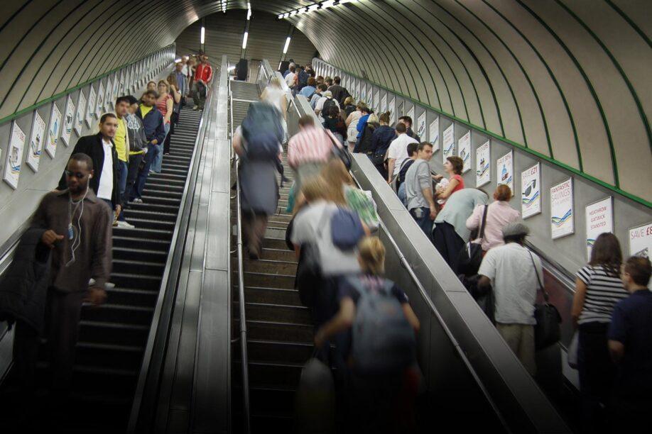 London underground busy life