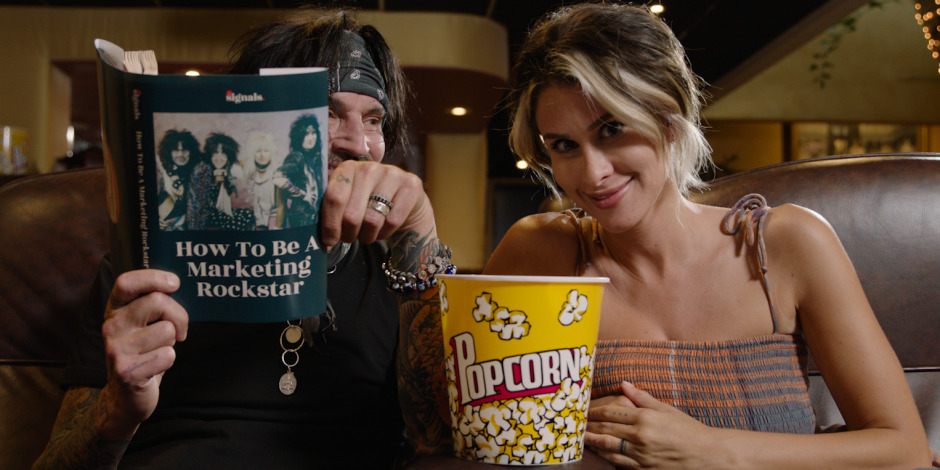 The Drum Motley Crüe drummer Tommy Lee and wife Brittany Furlan pitch email marketing services
