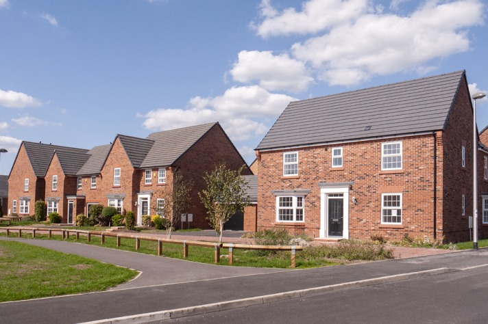 new build houses in a development